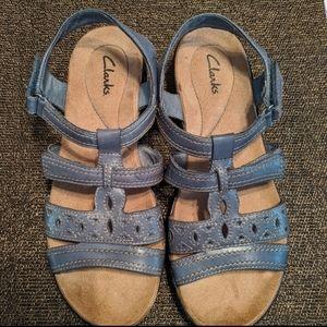 Clarks blue sandals